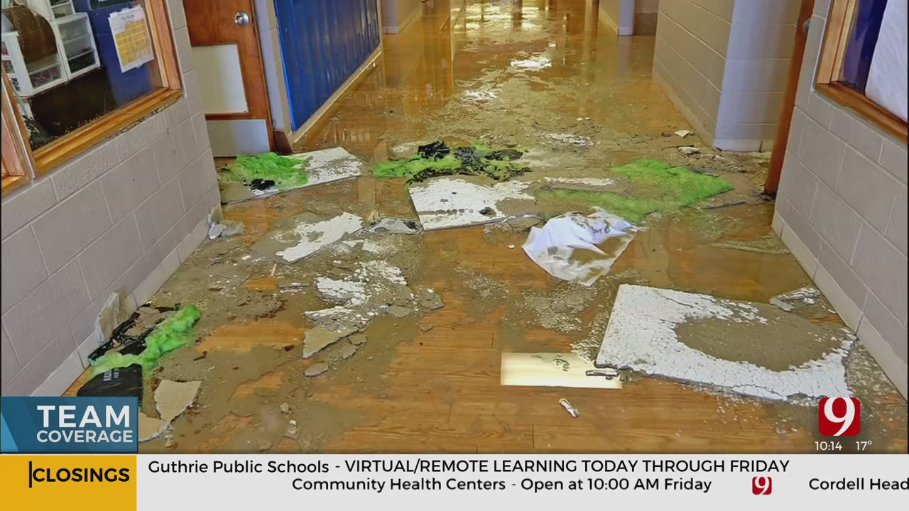 Nearly 20 Classrooms Damaged After Pipes Burst At Hennessey Public Schools