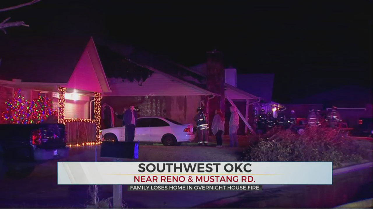 SW OKC Family Loses Home In Overnight House Fire