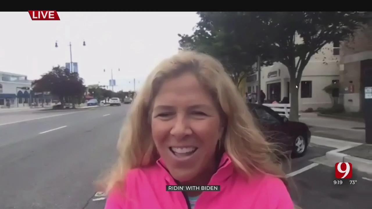 Ann Cameron, Wife Of News 9's Alex Cameron, Bumps Into President Biden