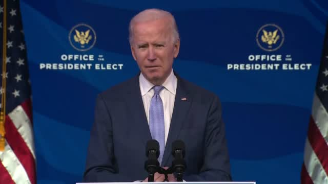 'This Must End Now': Joe Biden Denounces Violent Mob At US Capitol