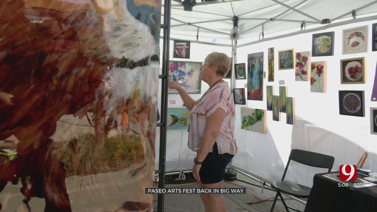 Artists Say Busy Paseo Arts Fest Helpful After A Year Without Shows Due To COVID