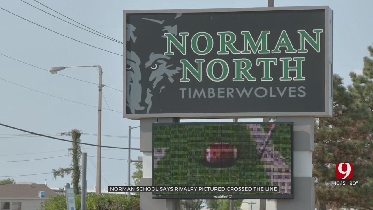 Norman Public Schools Investigating 'Disturbing' Image Of HS Logos Placed Over George Floyd, Derek Chauvin