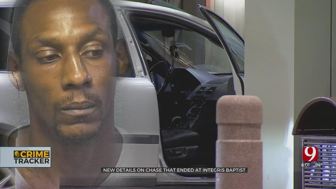Pursuit Suspect In Custody After Accelerating Van Into Integris Baptist Hospital Entrance