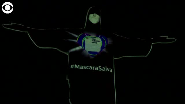WATCH: Mask Projected Onto Christ The Redeemer Statue
