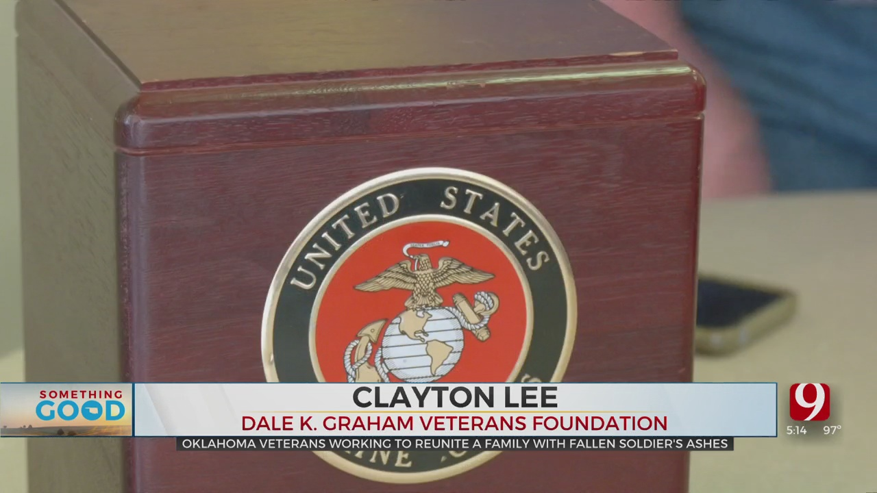 2 Men Search For The Owner Of USMC Box Found On Rural Highway In Blanchard
