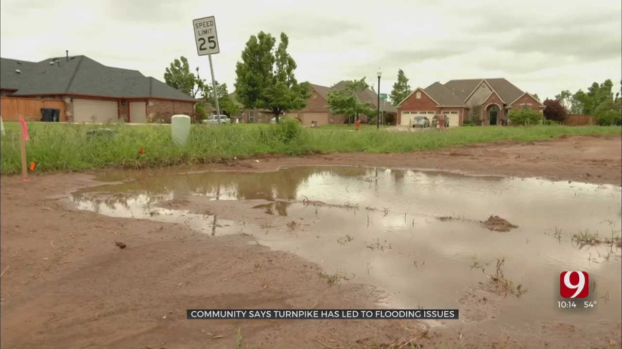 Oklahoma City Residents Ask Turnpike Authority To Help Manage Flooding After Construction