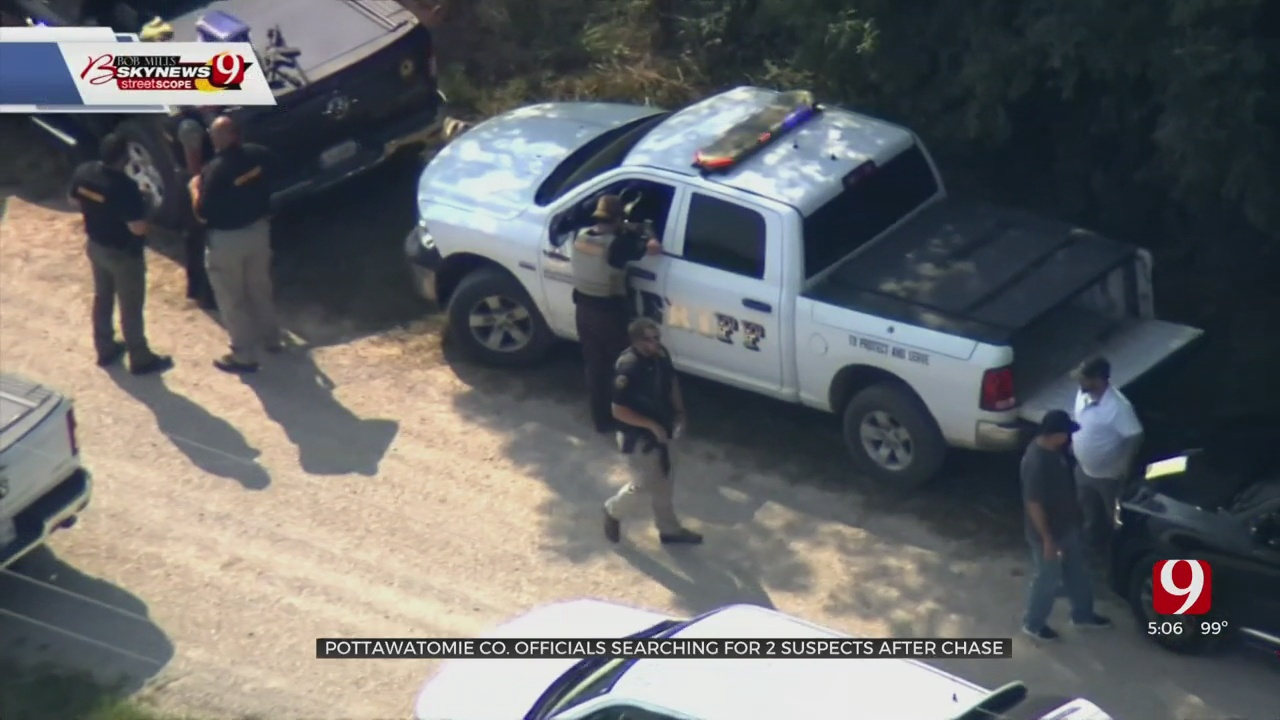 Manhunt Continues For 2 After Police Chase In Pottawatomie County