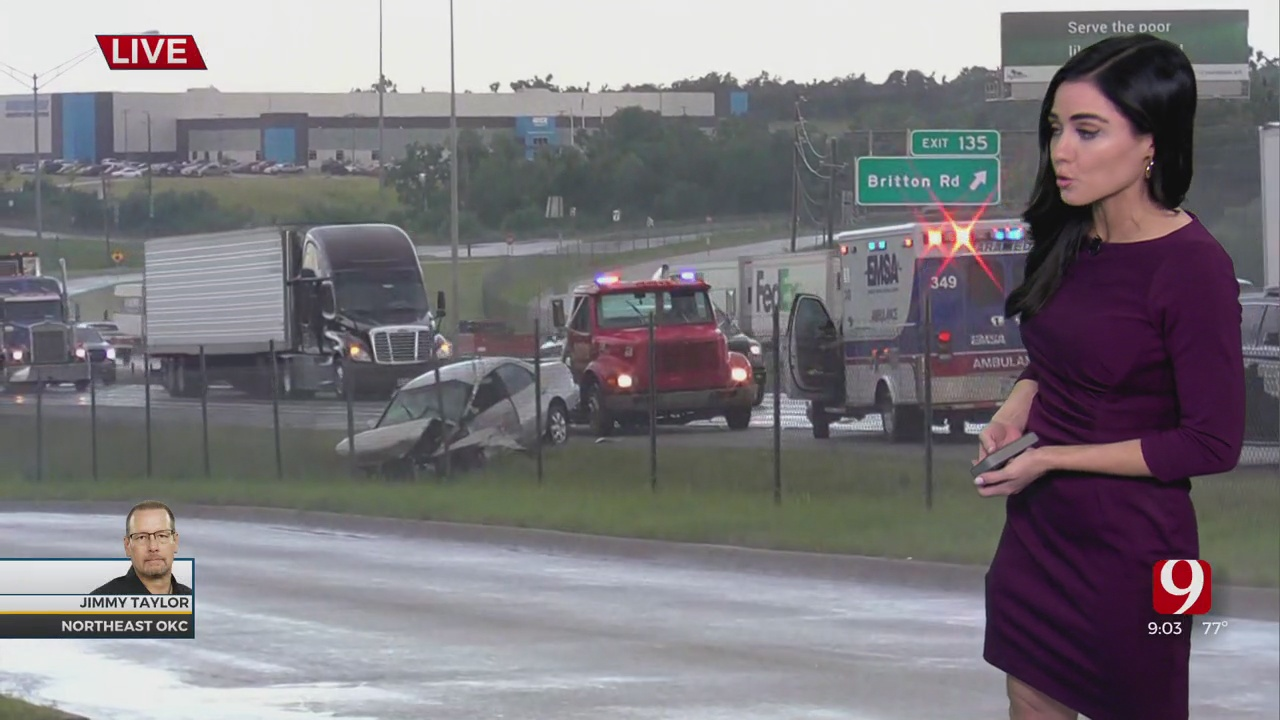 WATCH: Accident On I-35 Northbound Causes Delays