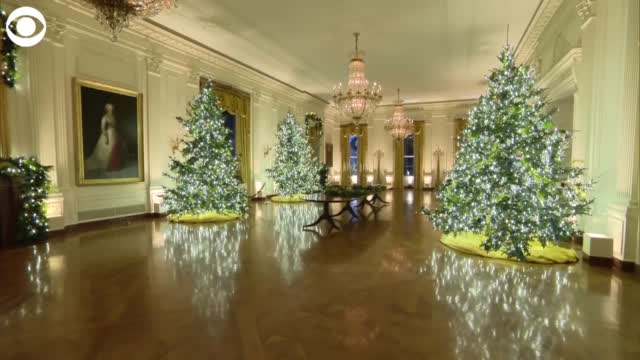 WATCH: Christmas Decorations Are Up At The White House