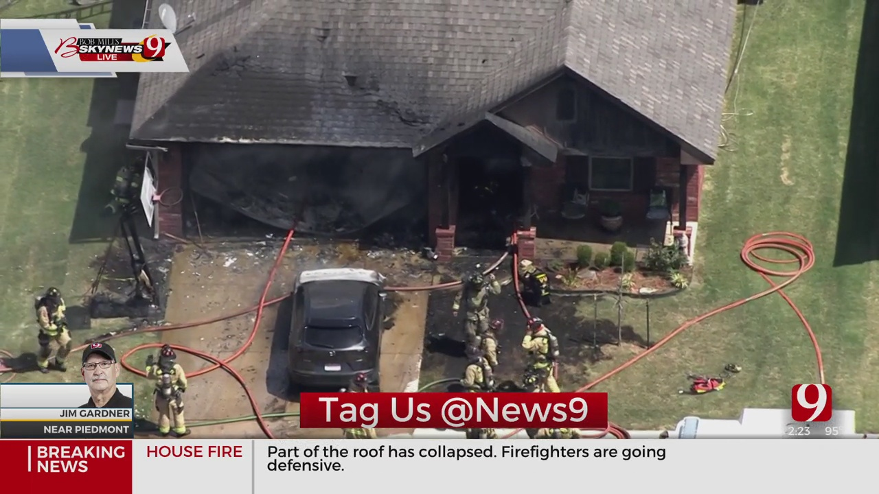 Vehicle Fire Spreads To Home In Far NW OKC