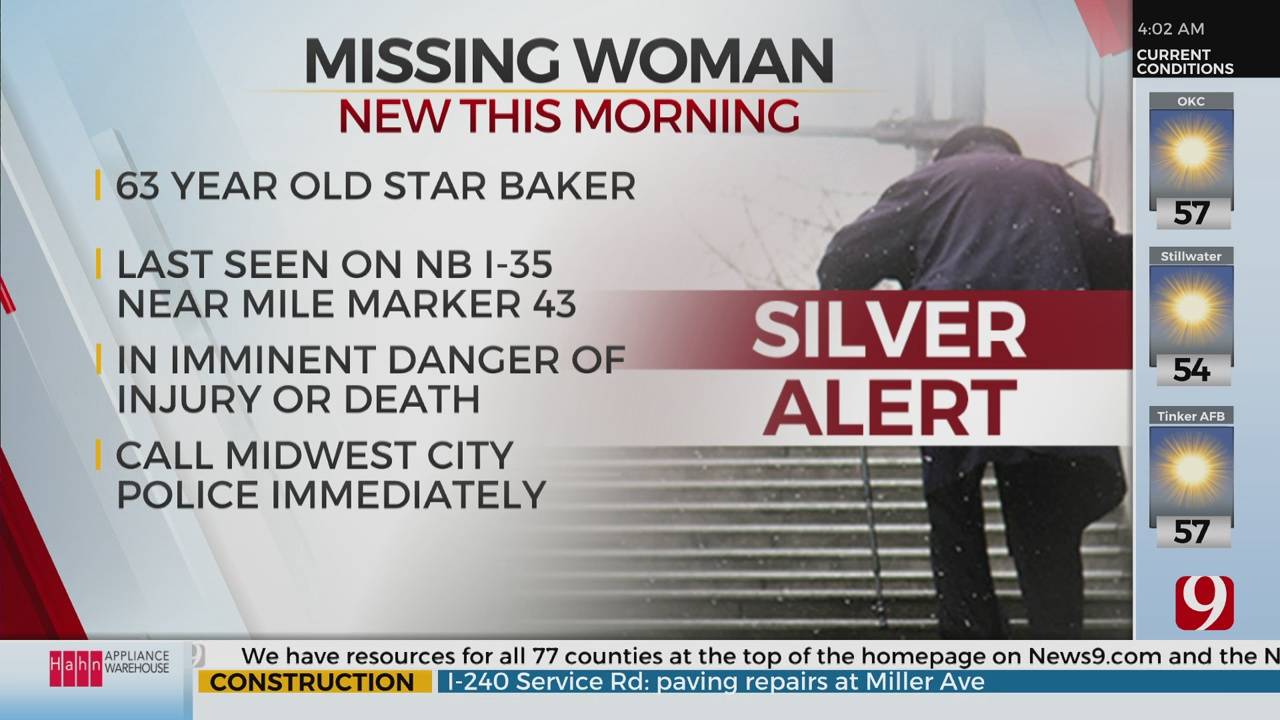 MWC Police Issue Silver Alert For Missing 63-Year-Old Woman