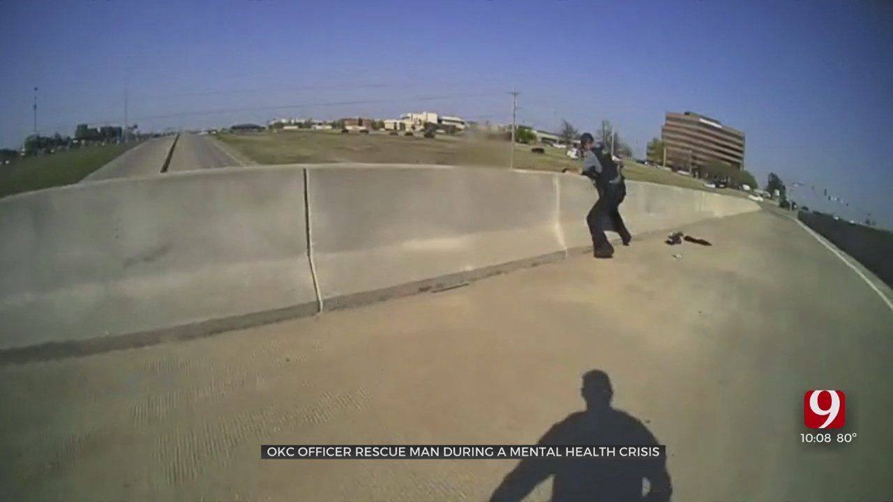 Caught On Camera: OKC Officers Rescue Man Experiencing Mental Health Crisis From City Bridge