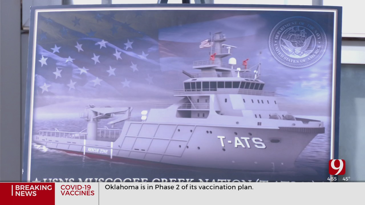 Naval Ship To Be Named The USNS Muscogee Creek Nation T-ATS10