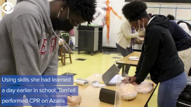 Teen Saves Life With CPR Skills Learned The Day Before
