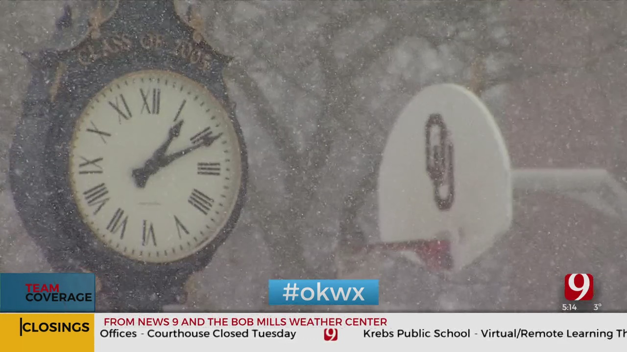 Norman City Leaders, OU Respond To Heavy Snow