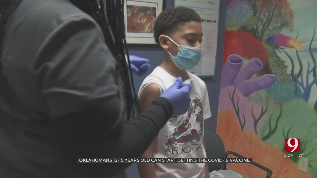 Oklahomans Ages 12 To 15 Can Start Getting Pfizer's COVID-19 Vaccine