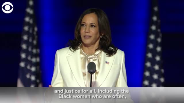 Kamala Harris: 'While I May Be The 1st Woman In This Office, I Will Not Be The Last'