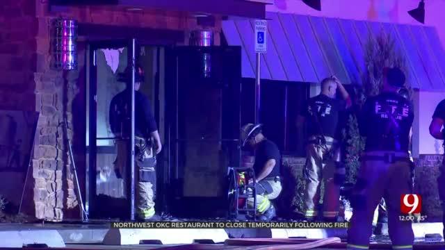 Fire Crews Extinguish Fire At Bricktown Restaurant