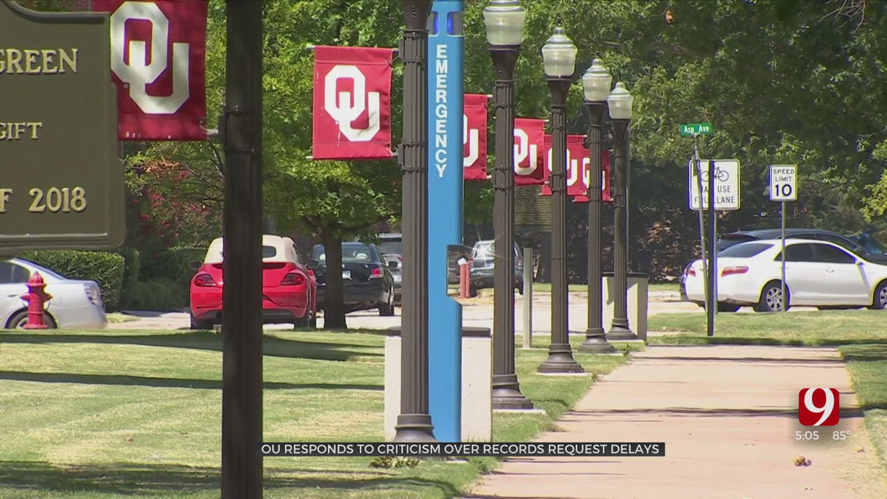 OU Responds To Criticism Over Open Records Request Delays