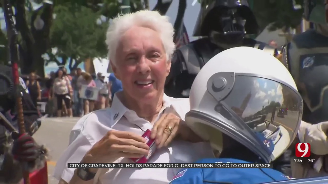 Parade Held For OSU Alum Wally Funk After Her Trip To Space