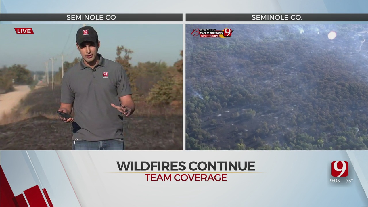 Firefighters Work To Put Out Hotspots In Seminole County