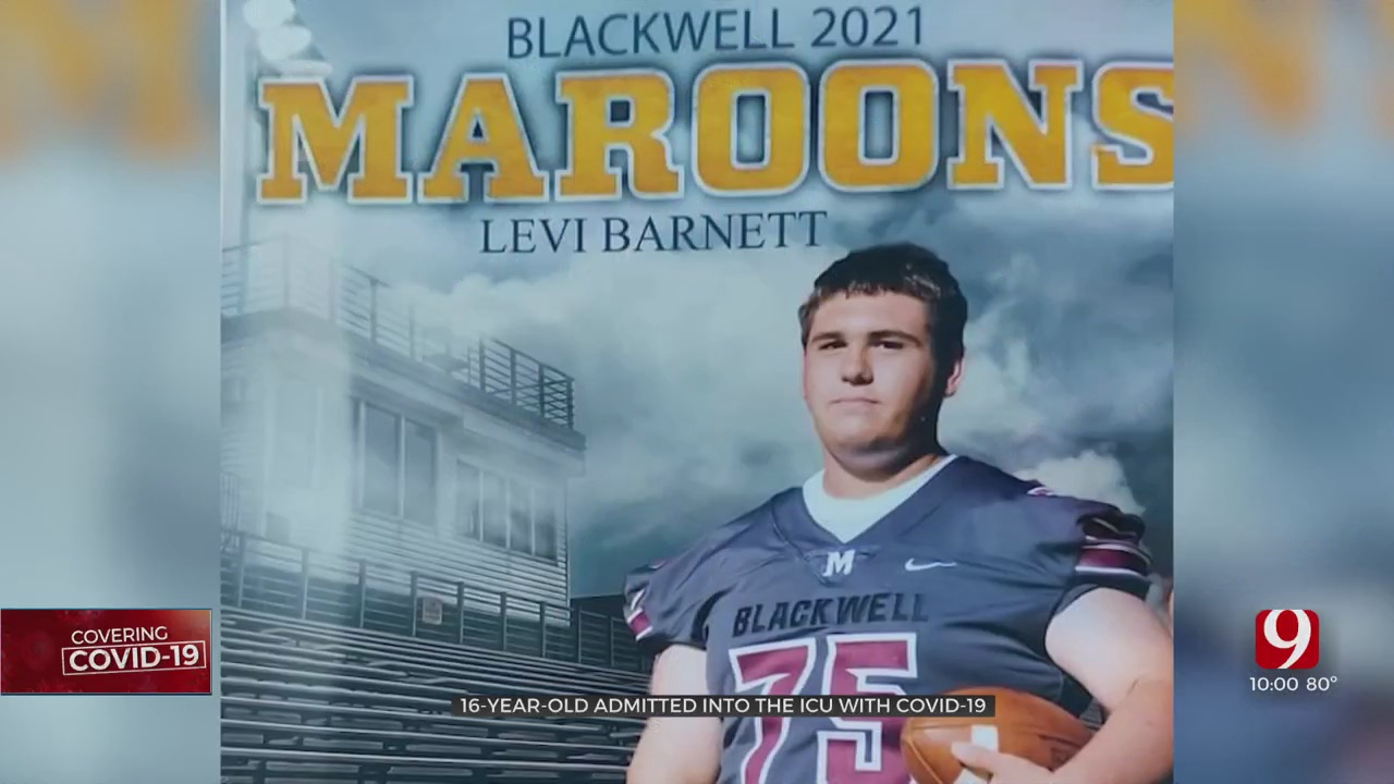 Blackwell HS Football Player Hospitalized With COVID-19