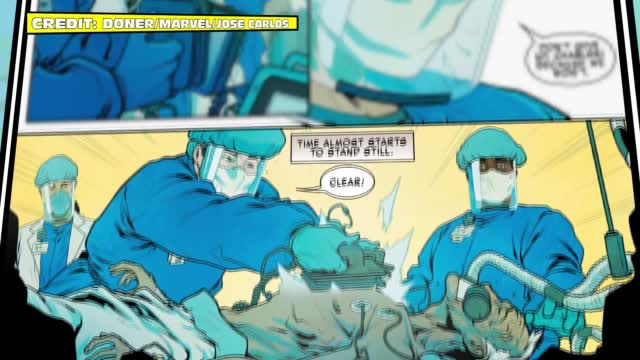 Healthcare Workers Immortalized As Comic Book Superheroes