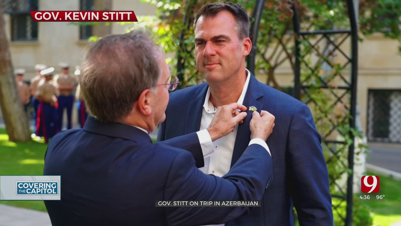 Gov. Stitt's Office Will Not Disclose His Return Plan From Official Trip In Azerbaijan Due To 'Security Issues'