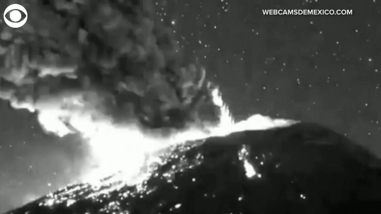 WATCH: A Volcano Erupted Monday Night In Mexico