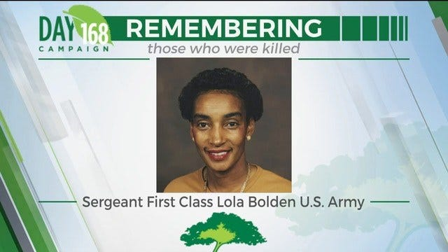 168 Day Campaign: Sergeant First Class Lola Bolden US Army