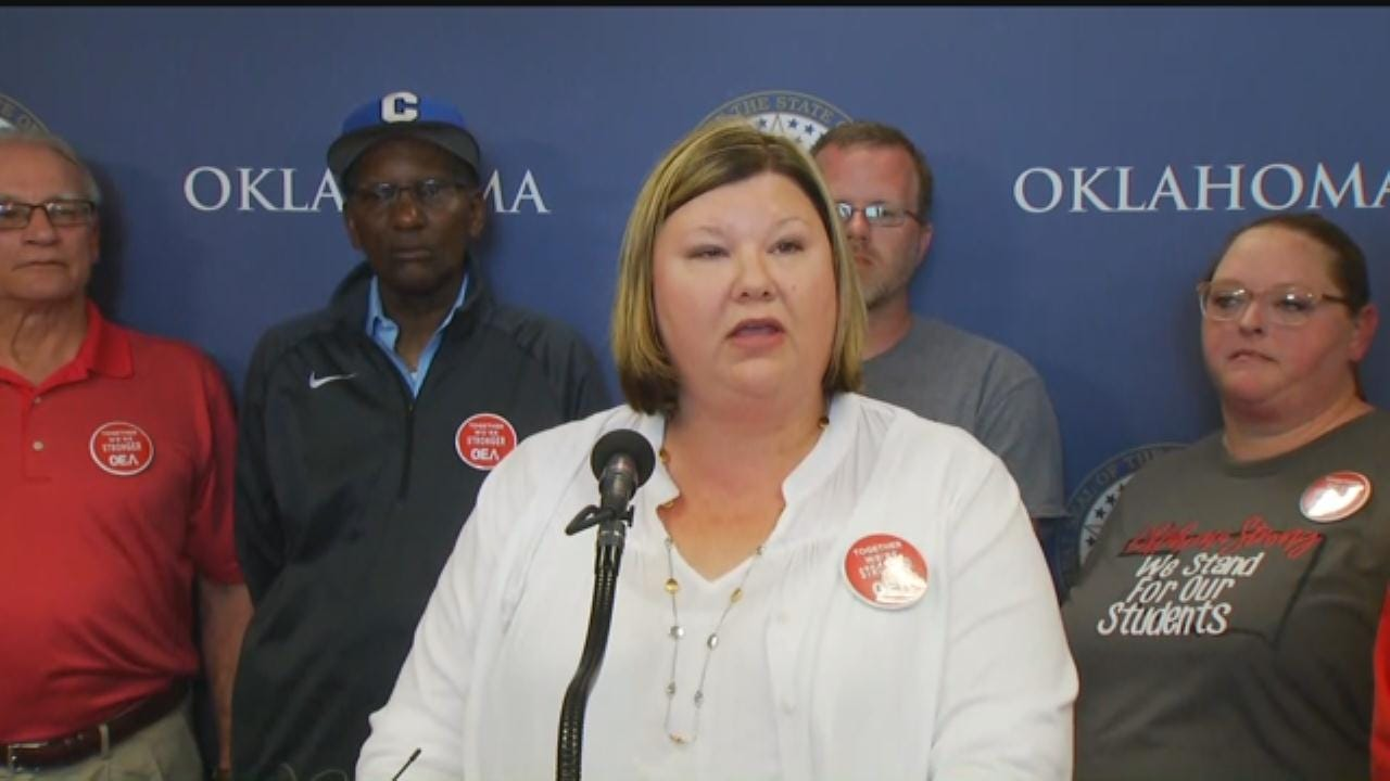 WEB EXTRA: OEA Holds Presser, Announces End Of Teacher Walkout