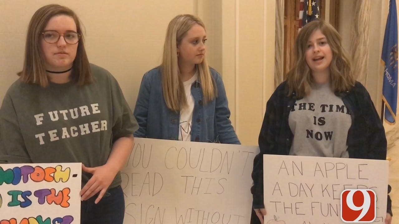 [UNFILTERED] Video: Deer Creek Students At Capitol To Support Teachers