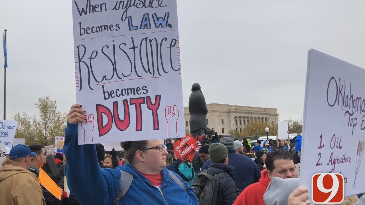 [UNFILTERED] Video: Sights, Sounds From Day 1 Of Oklahoma Teacher Walkout