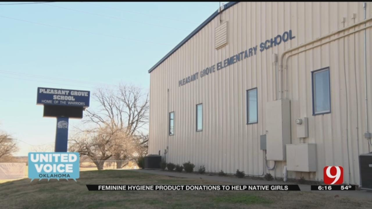 United Voice: Donation Of Feminine Hygiene Products Helps Native American Girls In School