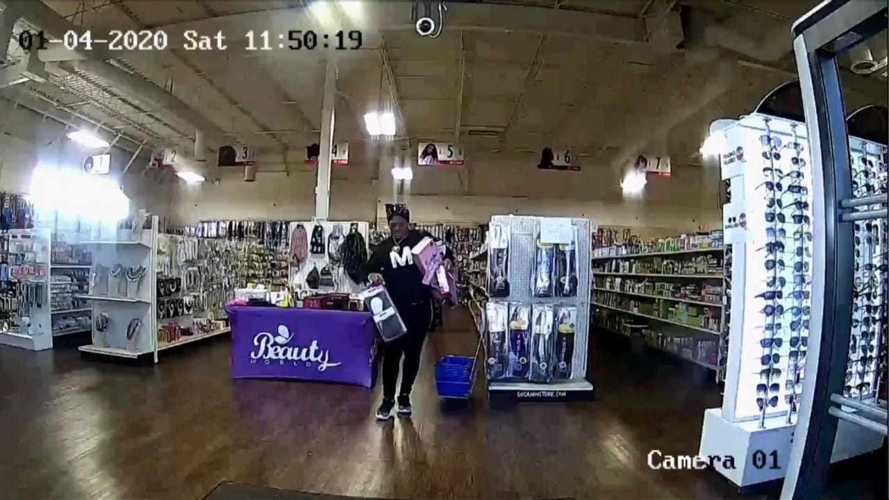 WATCH: Surveillance Video Shows Woman Stealing Wigs From OKC Store