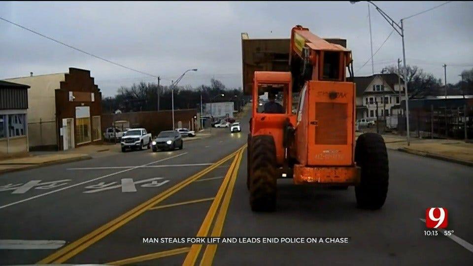 Enid Man Arrested After Taking Stolen Forklift On Joyride On Streets