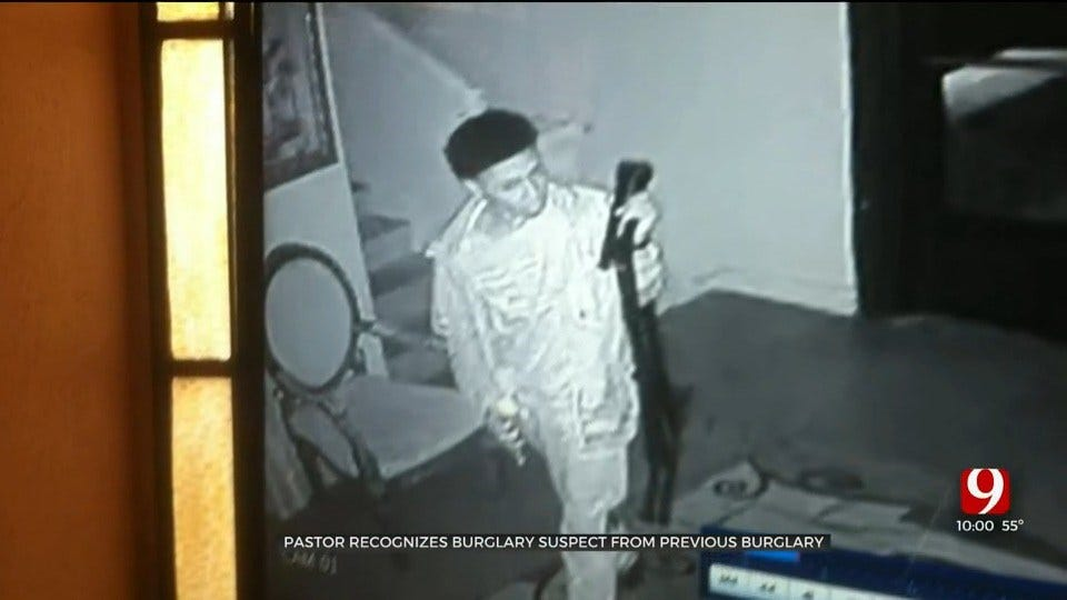 OKC Pastor Recognizes Burglary Suspect From Previous Church Burglary