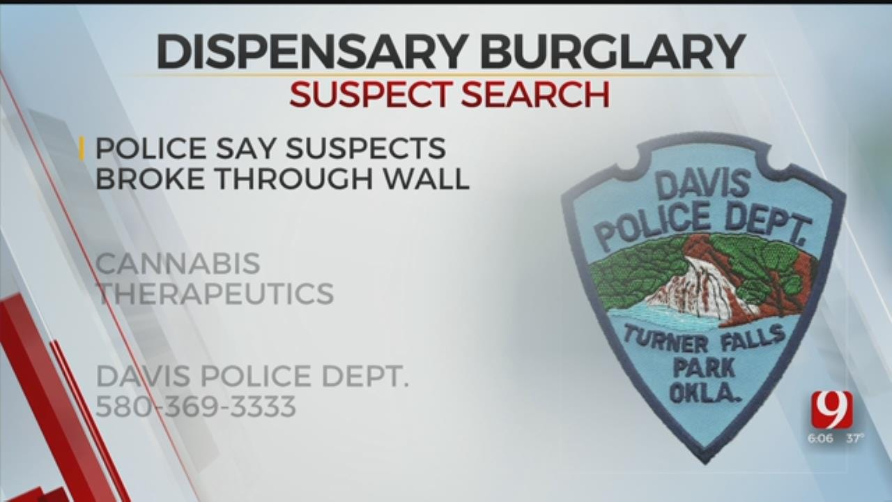 Davis Police Searching For Suspects That Broke Into Medical Marijuana Dispensary