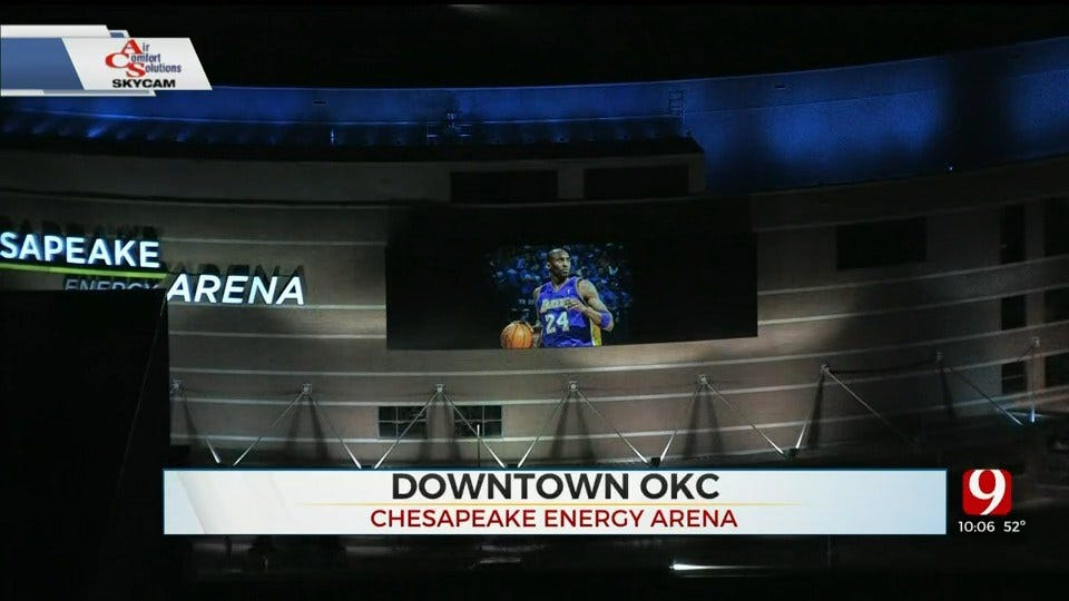 Oklahoma City Thunder, State Pays Tribute To Kobe Bryant