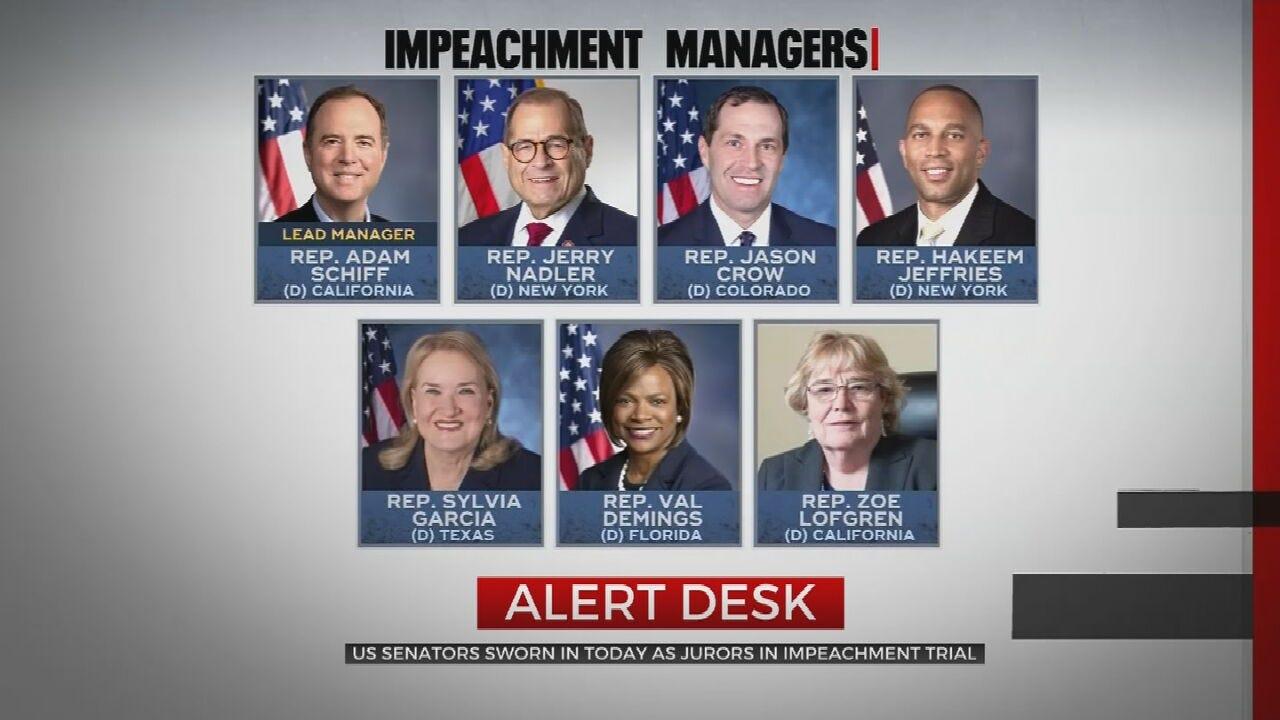 Senators To Be Sworn In For Impeachment Trial