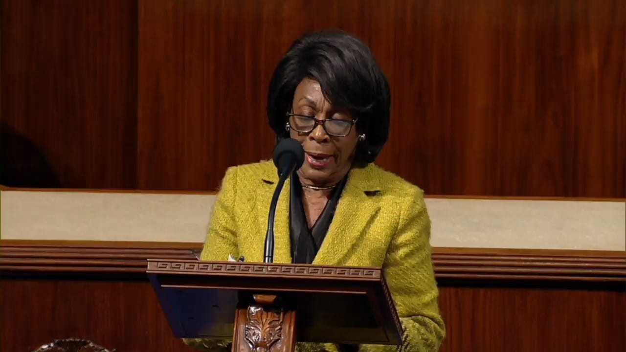 Rep. Maxine Waters Addresses House On Impeachment Vote