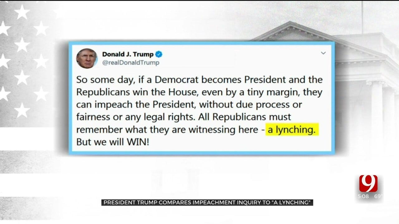 President Trump Compares Impeachment Inquiry To A 'Lynching'