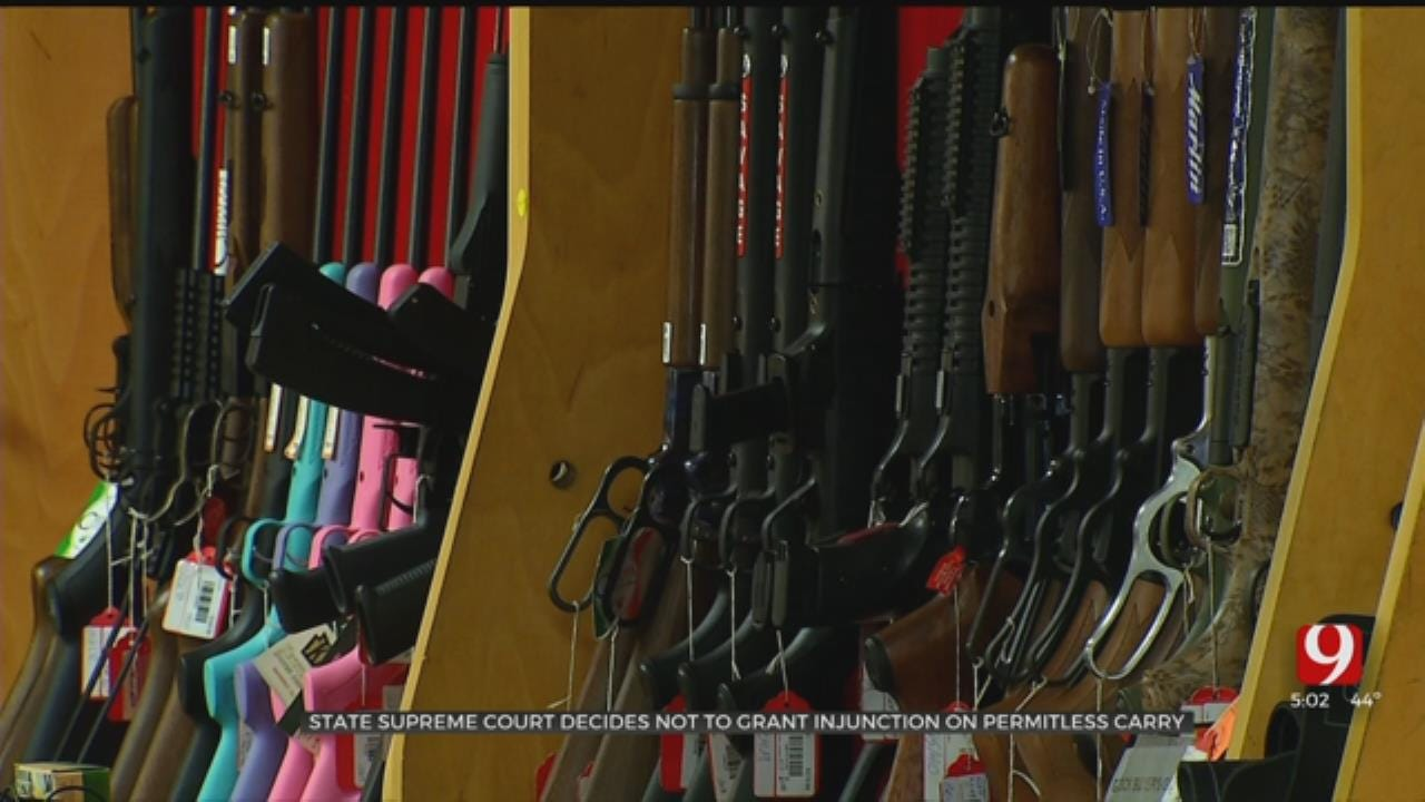 Oklahoma Supreme Court Denies Temporary Injunction On Permitless Carry