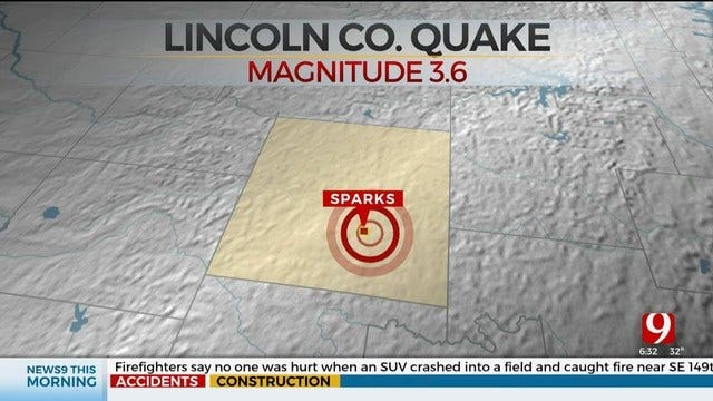 3.6 Magnitude Earthquake Shakes Lincoln County