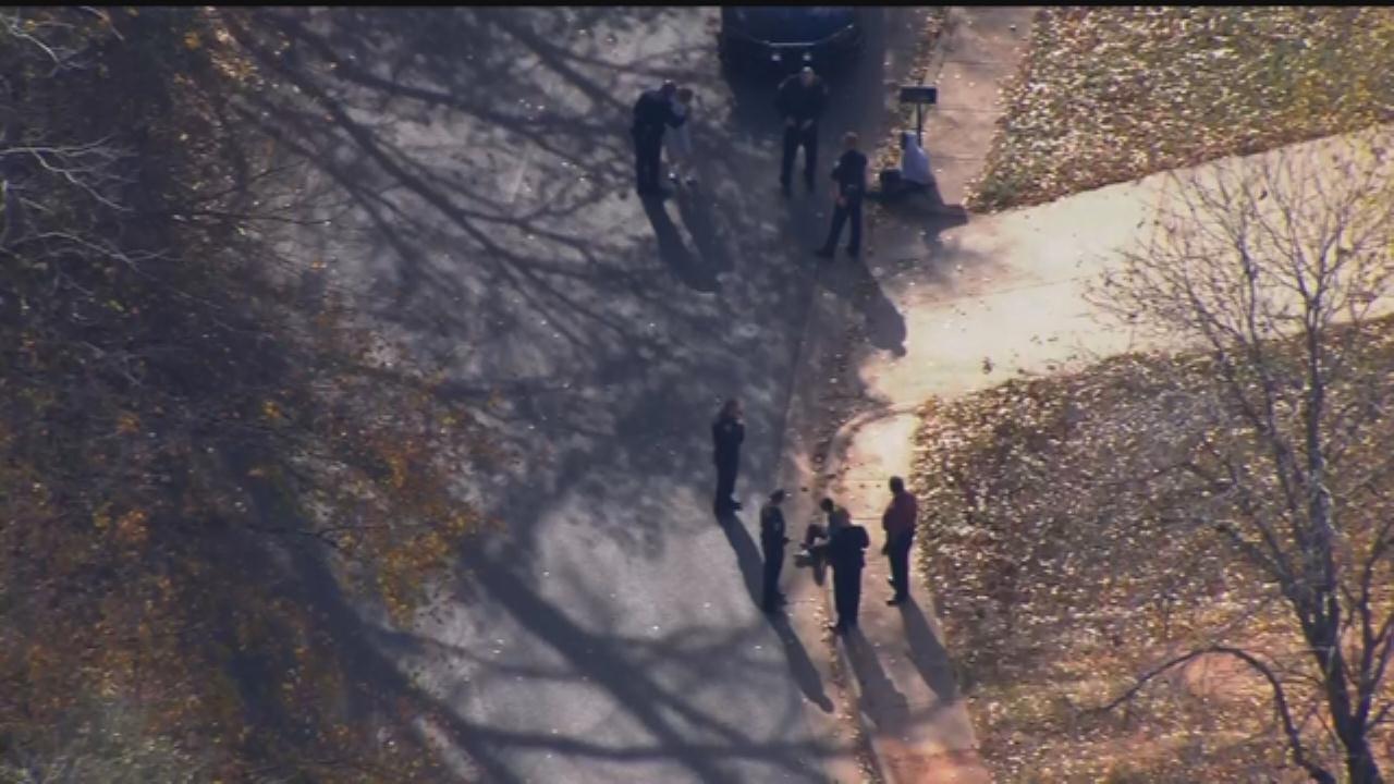 WEB EXTRA: Bob Mills SkyNews 9 Flies Over Lockdown Of Edmond Memorial HS