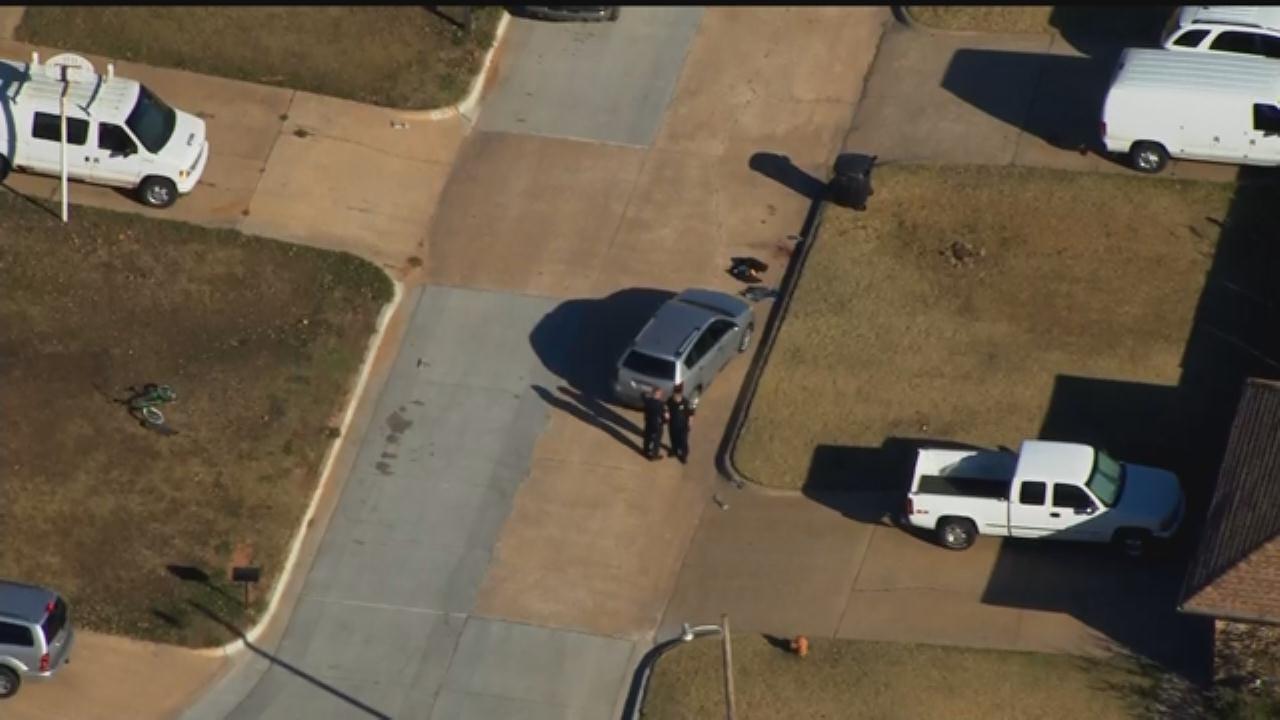 WEB EXTRA: Bob Mills SkyNews 9 Flies Over Auto-Pedestrian Crash In Moore