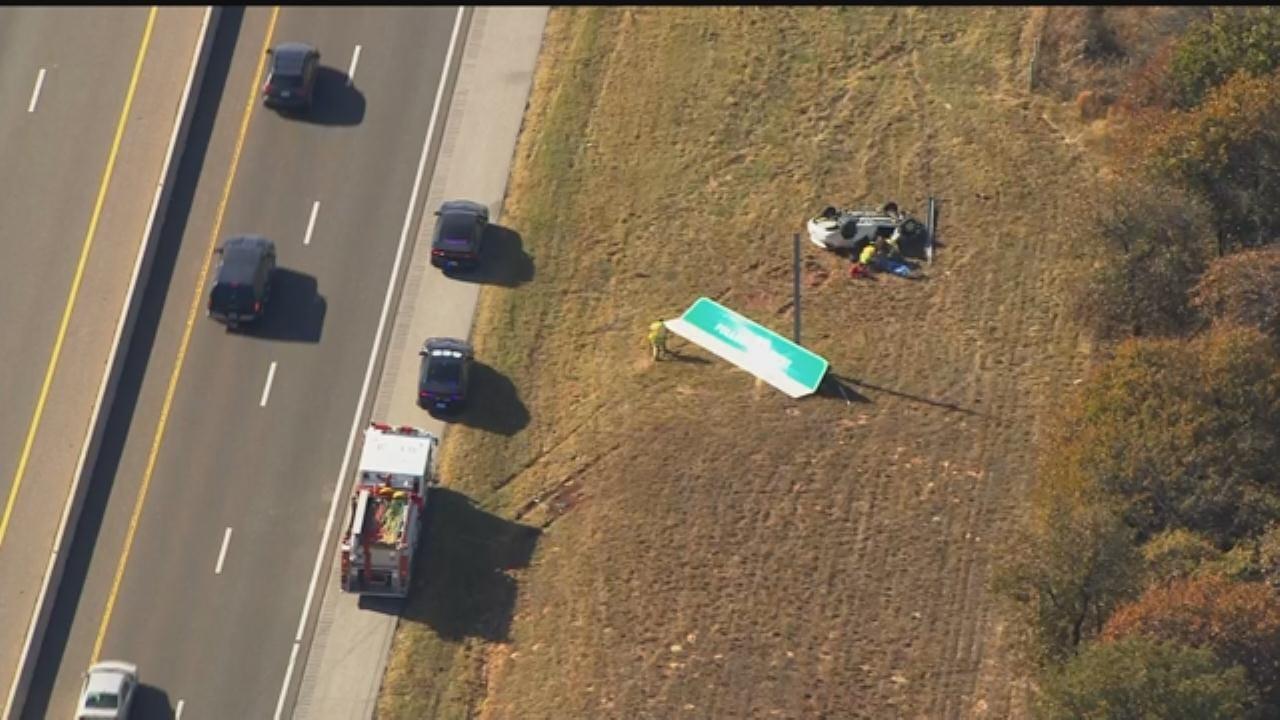 WEB EXTRA: Bob Mills SkyNews 9 Flies Over Deadly Crash On I-44