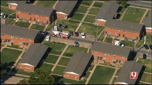 WEB EXTRA: Bob Mills SkyNews 9 Flies Over Shooting Investigation In SW OKC
