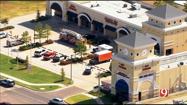 WEB EXTRA: Bob Mills SkyNews 9 Flies Over Shooting Investigation At Edmond Gun Range