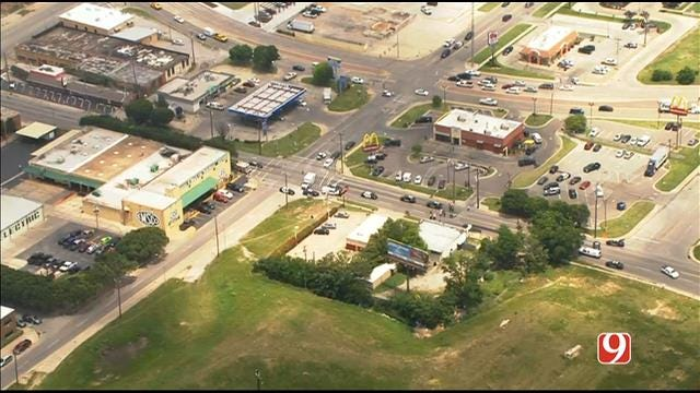 WEB EXTRA: Bob Mills SkyNews 9 Flies Over Scene Of Officer-Involved Shooting